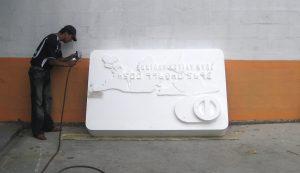 Publicidad Tridimensional en Poliuretano, Polietireno. Industrias Verton, Ecuador